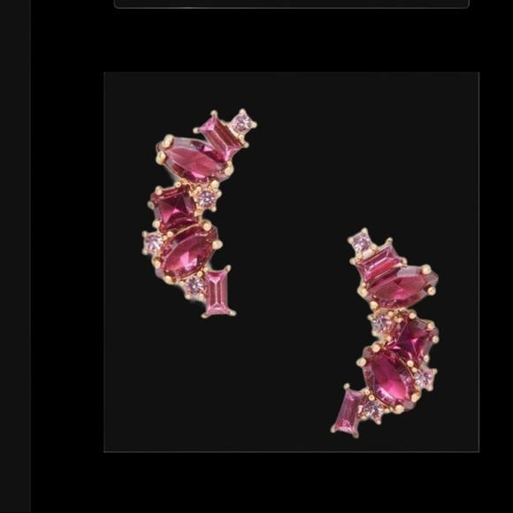 KATE SPADE EAR CRAWLERS CRYSTAL EARRINGS LN